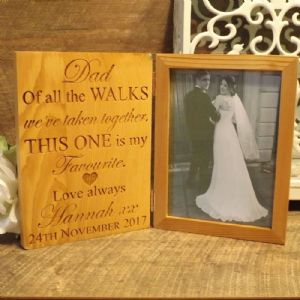 Personalised Dad Of All The Walks Wedding Picture Wooden Photo Frame